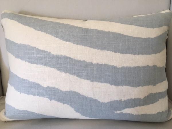Zebra Pillow Blue-Grey