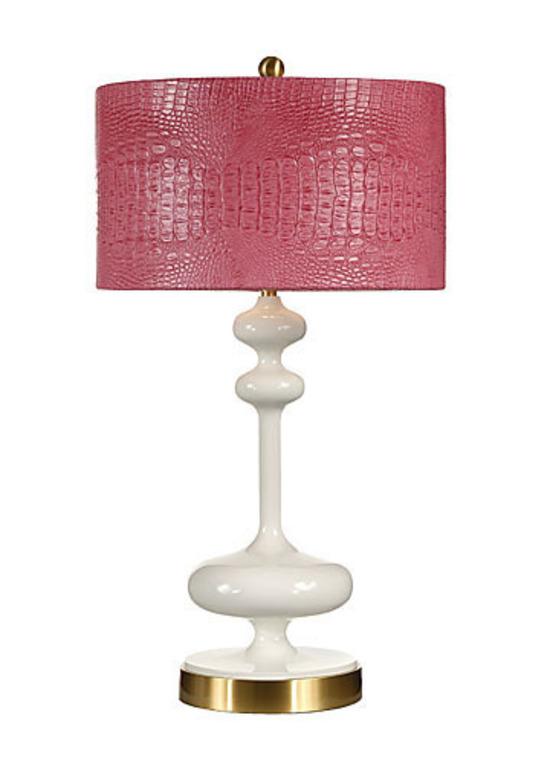 Hot Pink Crocodile Lamp