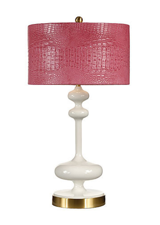 Hot Pink Crocodile Lamp