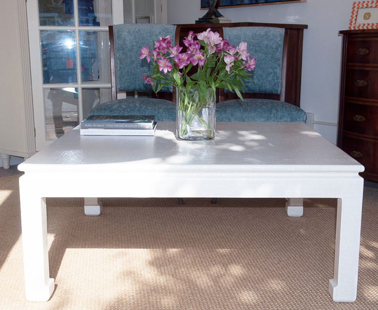 Linen Wrapped Coffee Table Ming Style