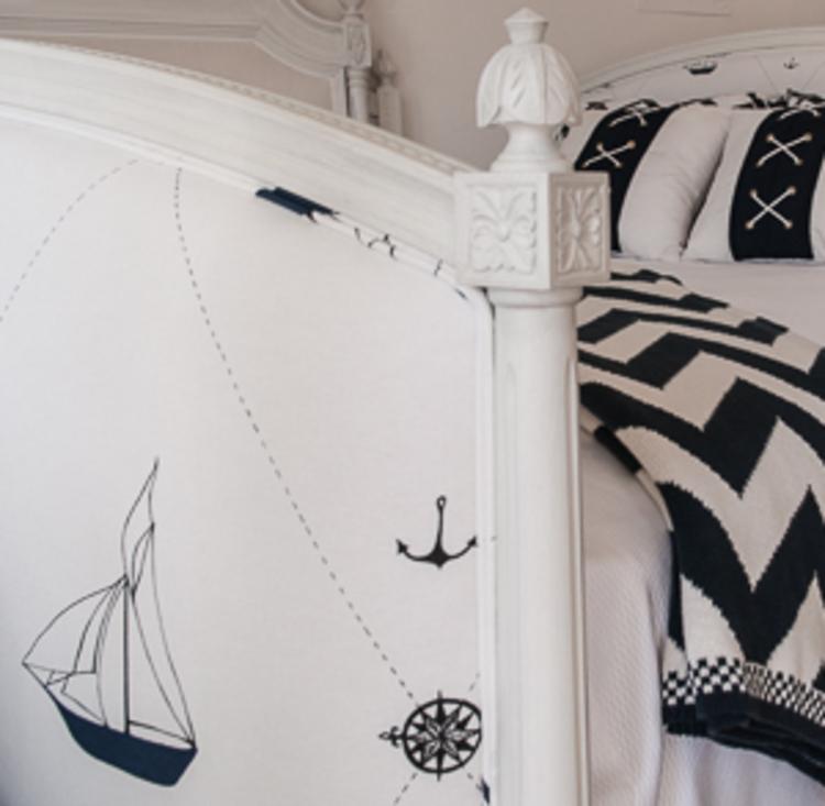 Swedish Bed Footboard Close-up